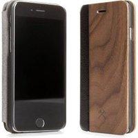 Woodcessories EcoFlip Business iPhone 5 5s SE walnoot+leder