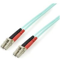 StarTech.com Aqua OM4 Duplex multimode glasvezel kabel 100 Gb 50-125 LSZH LC-LC 3 m
