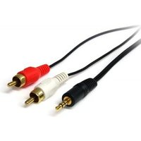 StarTech.com 1,8m Stereo Audio Kabel 3.5mm Male to 2x RCA Male