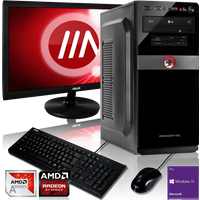 OFFICE KOMPLETT PC | AMD A8-9600 4x3.10GHz | 8GB DDR4 | Radeon R7 | 1000GB HDD | Win 10 Pro