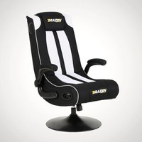 BraZen Serpent Gaming Chair – Black and White - Gadgets Gifts