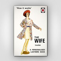 Personalised Ladybird The Wife Book - Books Gifts