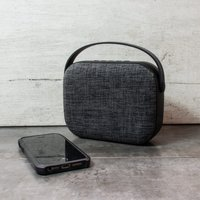 HE T200 Grey Cloth Wireless Speaker - Menkind Gifts