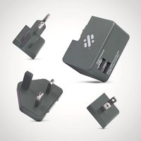 Tour Travel Plug with 3 heads Grey - Gadgets Gifts