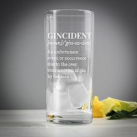 Personalised Gincident Highball Glass - Personalised Gifts Gifts