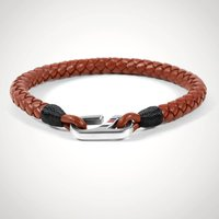 Tommy Brown Braided Leather Bracelet