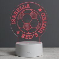 Personalised Football Colour-Changing Night Light - Football Gifts