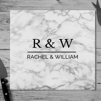 Personalised Marble Effect Glass Chopping Board - Chopping Board Gifts