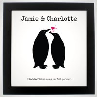 Personalised Penguin Perfect Partner Poster - Penguin Gifts