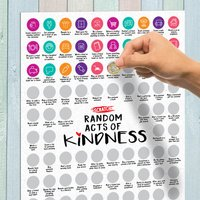 100 Random Acts of Kindness Scratch Poster - Random Gifts
