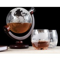 Globe Decanter with Glasses Set - Glasses Gifts