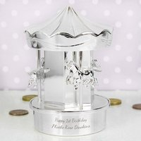 Personalised Carousel Money Box - Money Gifts