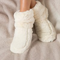 Warmies Microwavable Slippers - Cream Boots - Boots Gifts