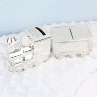 Personalised Train Money Box with Tooth and Curl Carriage - Money Gifts
