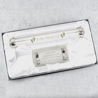 Personalised Christening Silver Plated Certificate Holder - Menkind Gifts