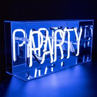 Acrylic Box Neon Party Blue - Party Gifts