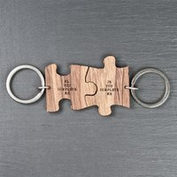 You Complete Me Couples Jigsaw Keyring - Keyring Gifts