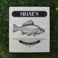 Personalised Fishing Gear Wooden Box - Fishing Gifts