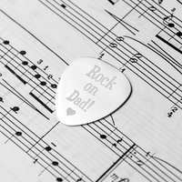 Personalised Dad's Plectrum - Guitar Gifts