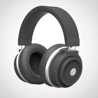 Bluetooth Padded Headphones - Black - Music Gifts