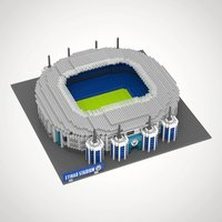 Manchester City FC Football Stadium 3D Construction Kit - Football Gifts