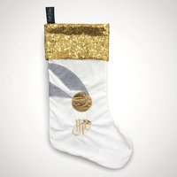 Golden Snitch Sparkly Christmas Stocking - Christmas Stocking Gifts