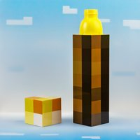 Minecraft Torch Water Bottle - Minecraft Gifts