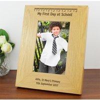 Personalised First Day at School Photo Frame - School Gifts