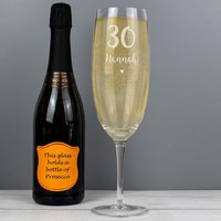 Personalised Big Age Bottle Of Prosecco Glass - Prosecco Gifts