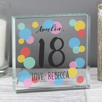 Personalised Birthday Colour Confetti Crystal Token - Colour Gifts