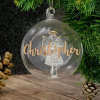 Personalised Glass Angel Bauble - Bauble Gifts