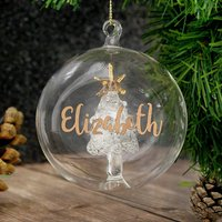 Personalised Christmas Tree Bauble - Bauble Gifts