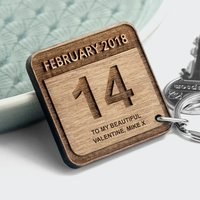 Personalised Special Date Keyring Square - Special Gifts