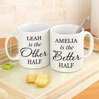 Personalised Other Half and Better Half Mug Set - Personalised Gifts
