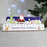 Personalised Make Your Own Santa Advent Countdown Kit