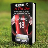 Personalised Arsenal On This Day Book - Arsenal Gifts