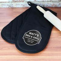 Personalised BBQ & Grill Oven Gloves - Bbq Gifts