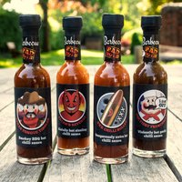 Barbecue Bad Boys Sauce Selection – 4 Hot Sauces - Barbecue Gifts