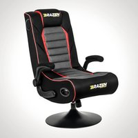 BraZen Serpent Gaming Chair - Black, Grey and Red - Gaming Chair Gifts