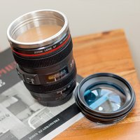 Camera Lens Mug With Lid - Electronics Gifts