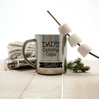 Personalised Dad's Camping Cuppa Brewed To Perfection Outdoor Mug - Camping Gifts