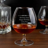 Personalised Decorative Brandy Glass - Menkind Gifts