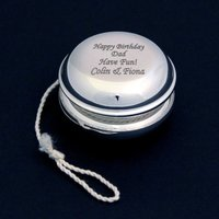 Personalised Engraved Silver Plated YoYo
