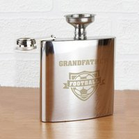 Personalised Football Hip Flask - Football Gifts