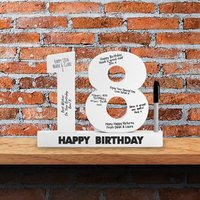 18th Birthday Signature Numbers - 18th Gifts