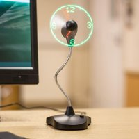 LED Clock Fan Stand - Gadgets Gifts