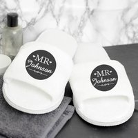 Personalised Mr Velour Slippers - Slippers Gifts