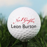 Personalised No1 Golfer Golf Ball - Golf Gifts