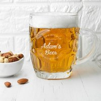 Personalised Home Brewed Dimpled Beer Glass - Beer Glass Gifts