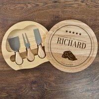 Personalised Extra Mature Cheese Board Set - Cheese Board Gifts